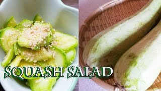 Raw Summer Squash Zucchini vegetable salad Longevity food