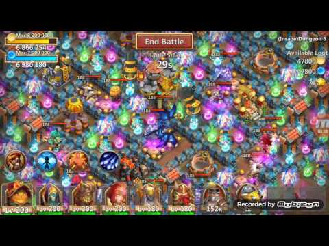 Castle Clash Insane Dungeon 5-8 F2P