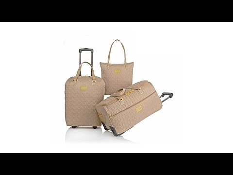 Joy Mangano Clothes It All Quilted Luggage Set - YouTube : it quilted luggage - Adamdwight.com