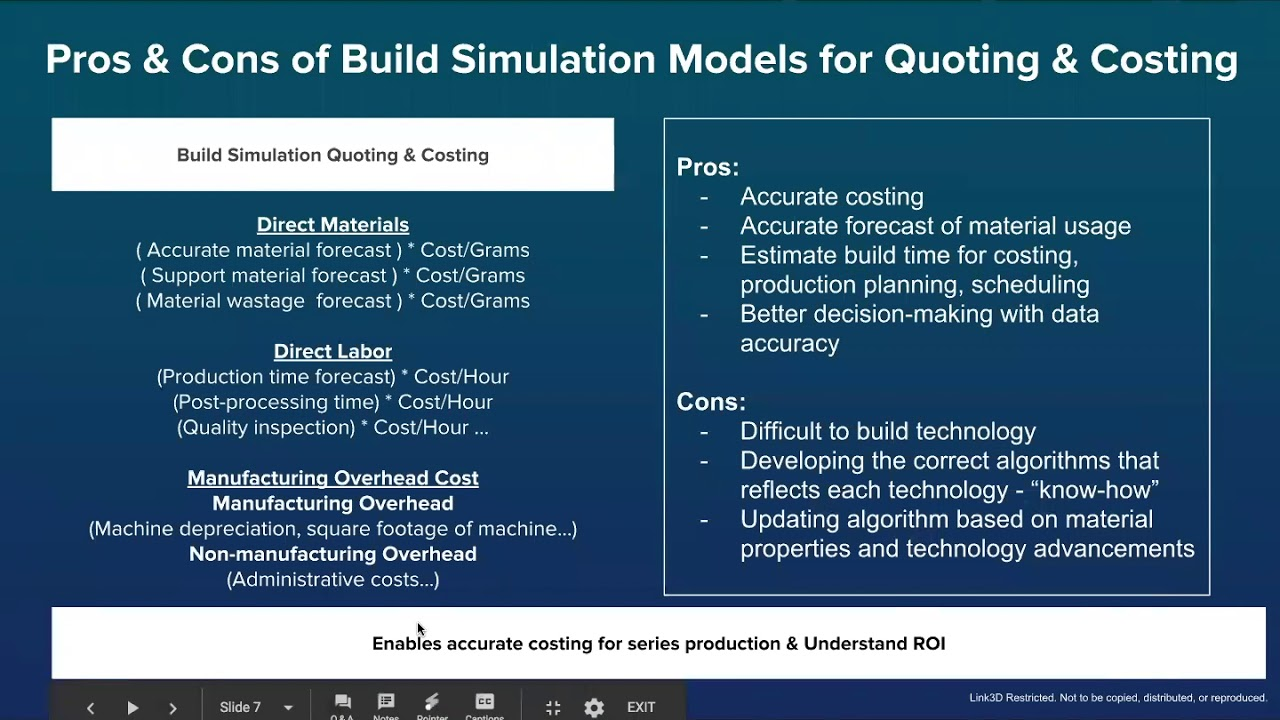 Additive MES Webinar Series: Auto-Quoting & Costing Solutions