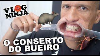 O CONSERTO DO BUEIRO parte 2 - VLOG NINJA