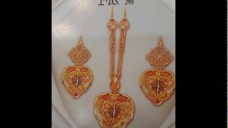 Latest gold necklace desings set with Earrings || razik jewelleries