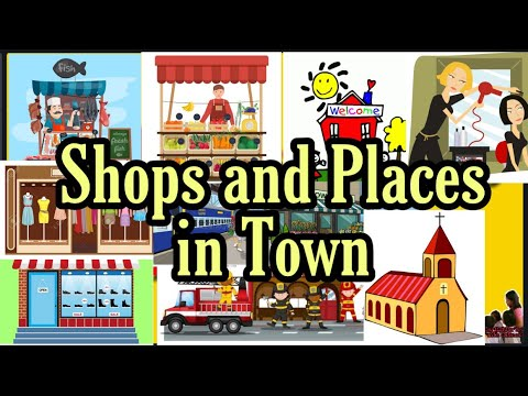 Download Shops and Places in Town Vocabulary #ESLBeginners