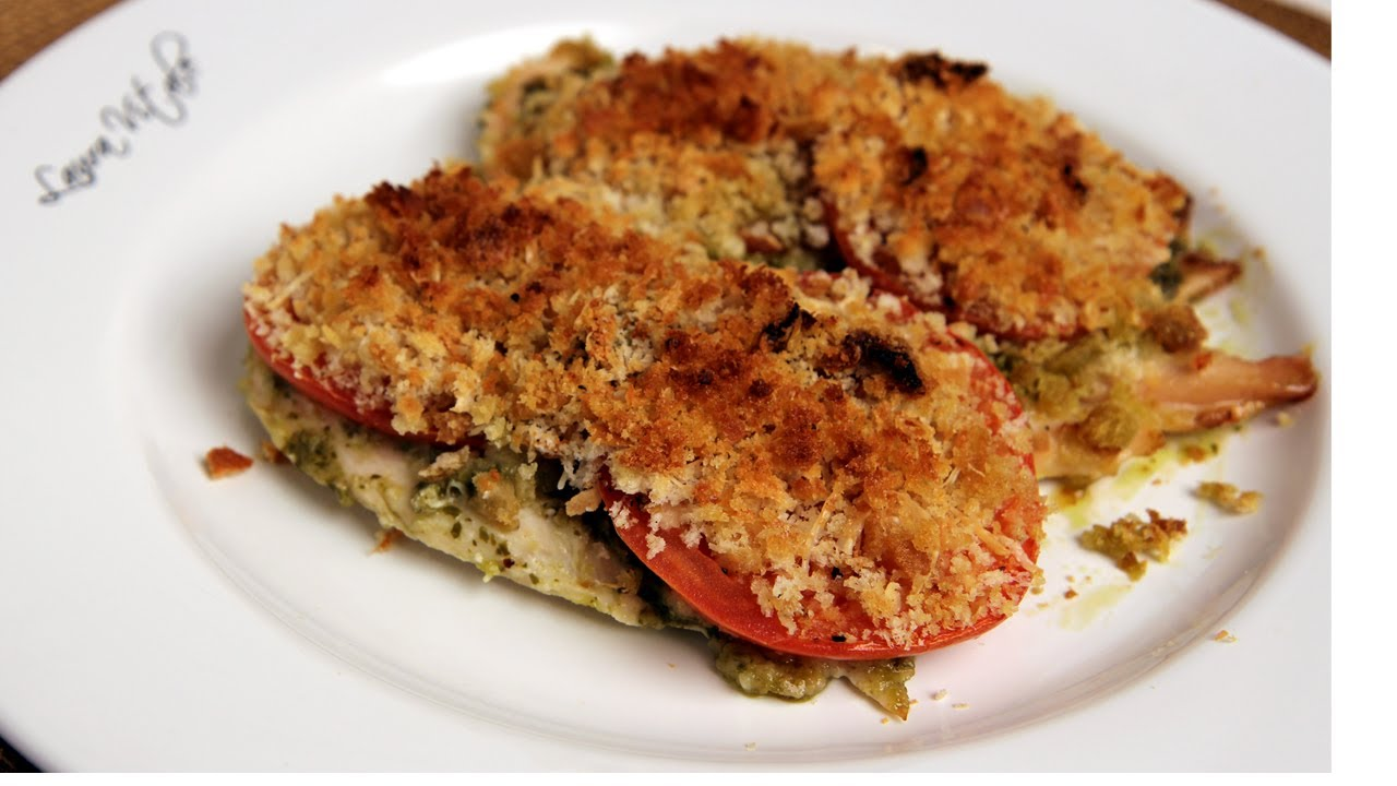 Pesto Baked Chicken Recipe - Laura Vitale - Laura in the Kitchen Episode 296