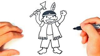 Como dibujar un Indio paso a paso | Dibujo facil de Indio