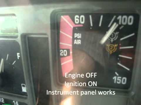 Cdl Pre Trip Air Brake System Live Inspection Wmv Youtube
