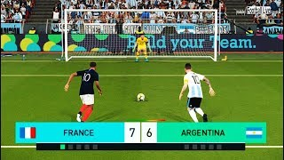PES 2018 | FRANCE vs ARGENTINA | Penalty Shootout | Mbappe vs Messi | Gameplay PC