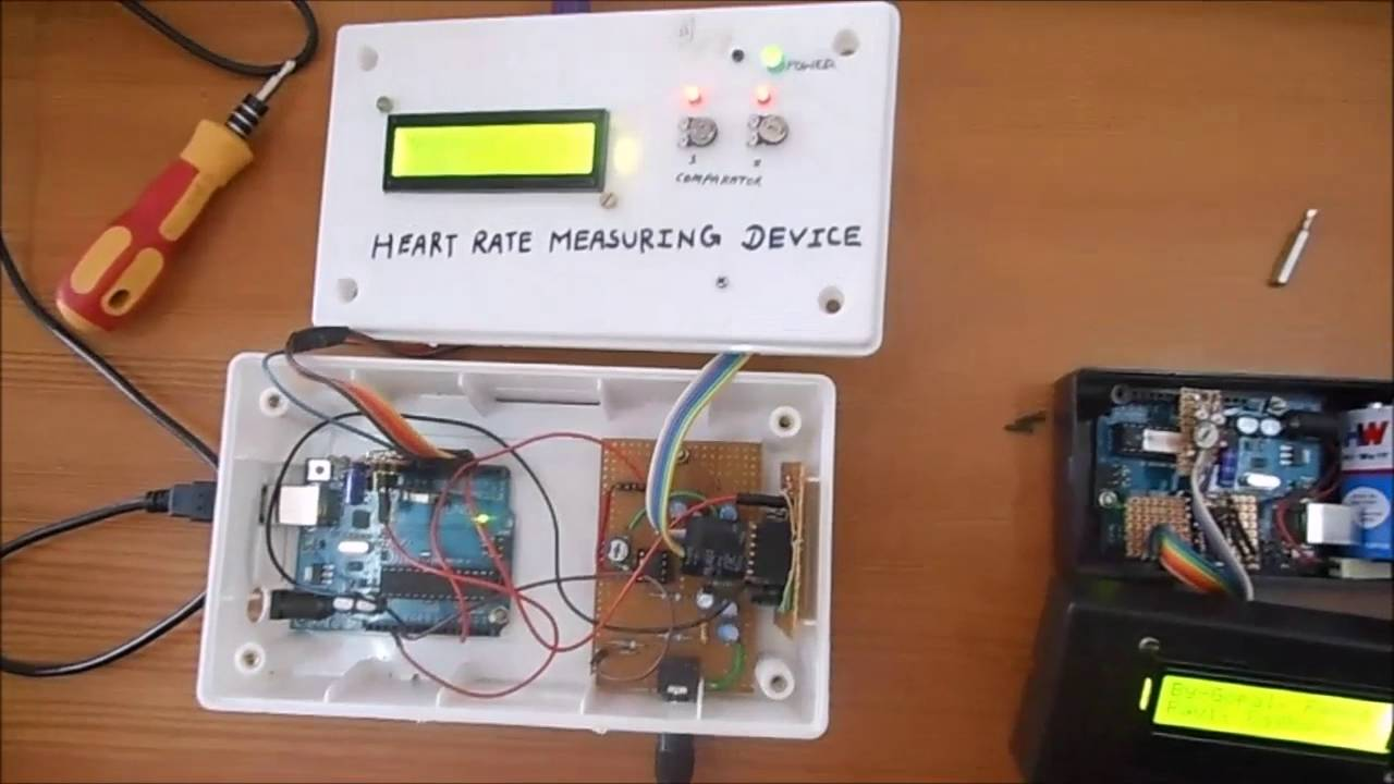 Heart rate measuring device with arduino youtube