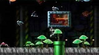 Just a trick in the Tutorial level of the freeware Turrican-like ga...