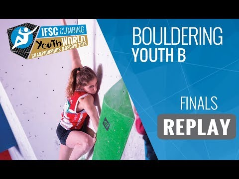 IFSC Youth World Championships Moscow 2018 - Bouldering - Finals - Youth B