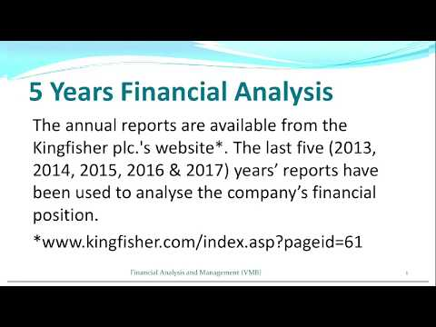 MBA 1.4 Financial Management - 5 Years Financial Analysis of Kingfisher plc.