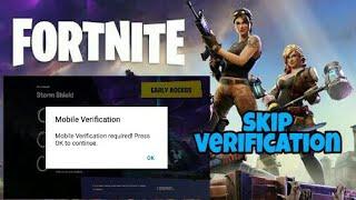 Fortnite mobile skip mobile verificaton with proof 100%working