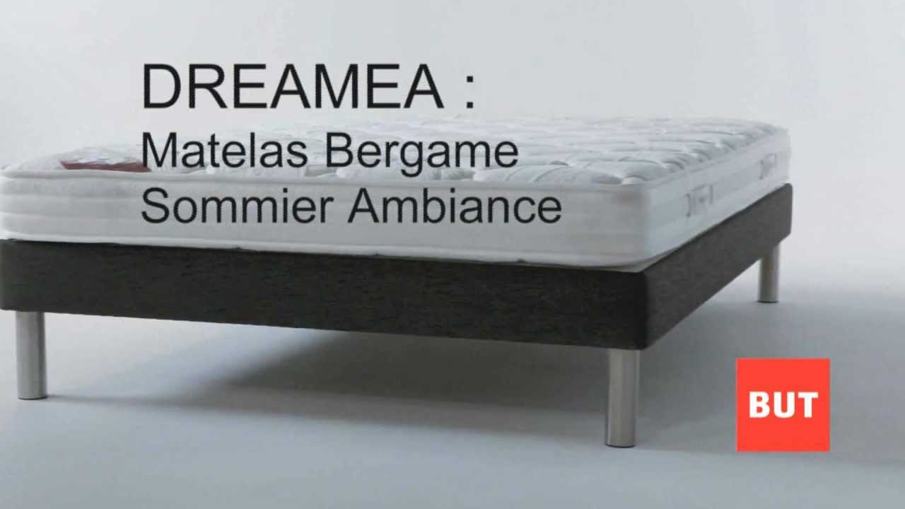 literie bergame marque dreama en vente chez but youtube. Black Bedroom Furniture Sets. Home Design Ideas
