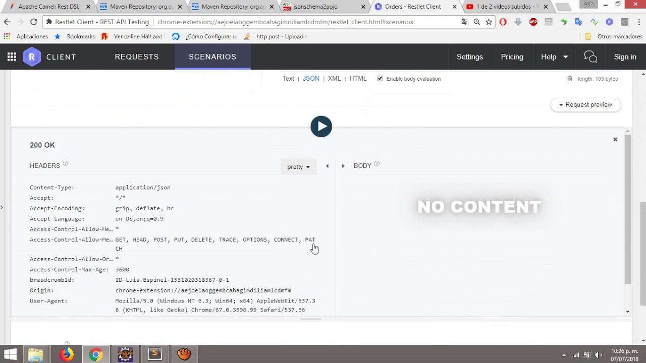 Apache Camel, Exponiendo Web Services REST a través de otros verbos y  recepción de body de petición