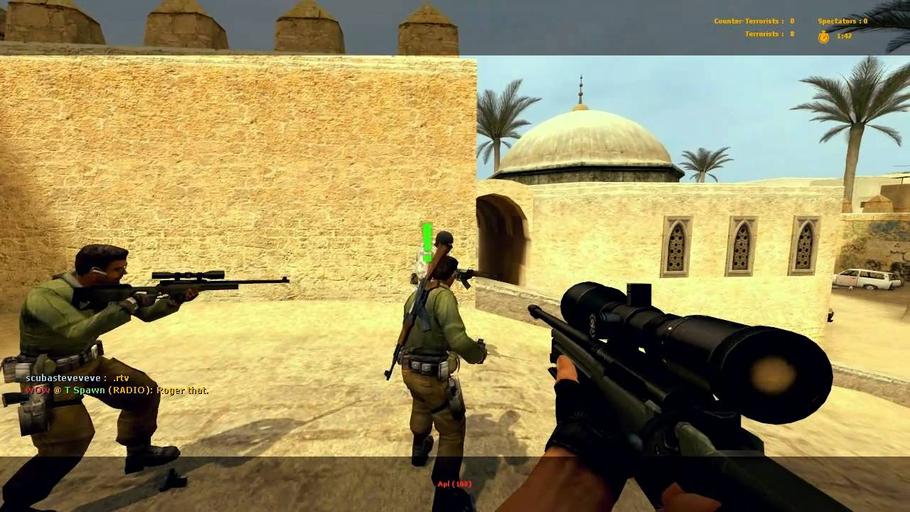 CounterStrike Source AWP Gameplay on Dust2 YouTube