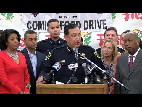 Press Conference - Comida Food Drive 2017 | Houston Police Department
