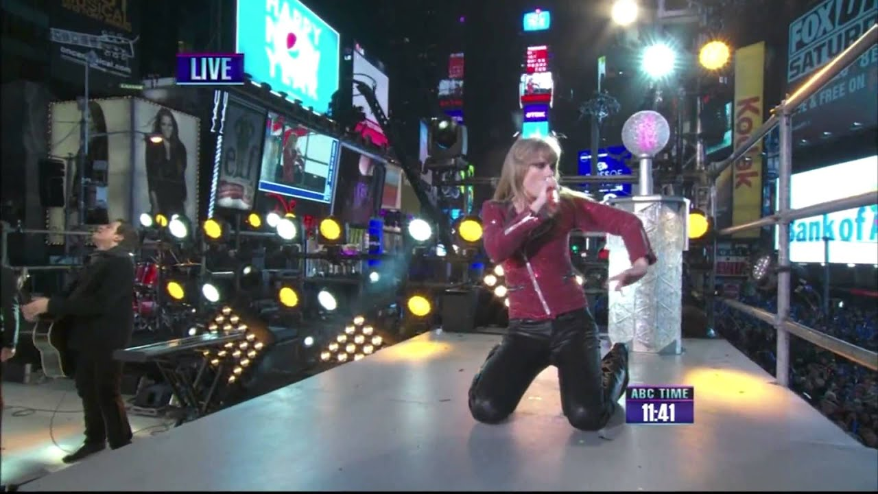 Taylor Swift LIVE HD  New York City  New Year s Eve    Performs Her     Taylor Swift LIVE HD  New York City  New Year s Eve    Performs Her NEW 2  Hit Songs 2012   YouTube