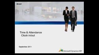 Microsoft Dynamics AX: ساعة في الخروج و الحضور غياب نظرة عامة