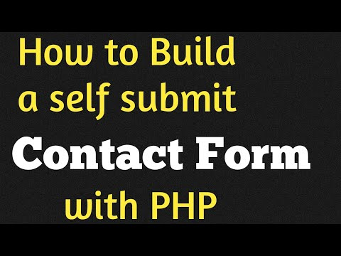 PHP For Beginners - A Self Submit Form and Functions in PHP - YouTube