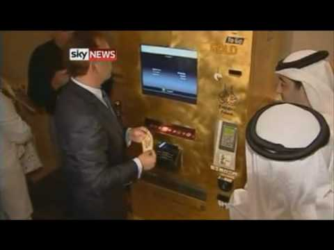 ATM machine dispenses gold