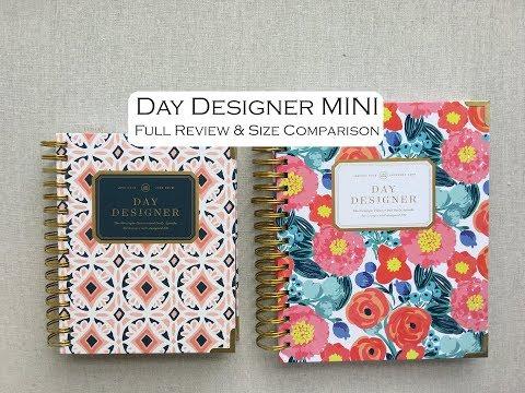 Day Designer MINI--Full Walk Through & Comparison With Full Size!