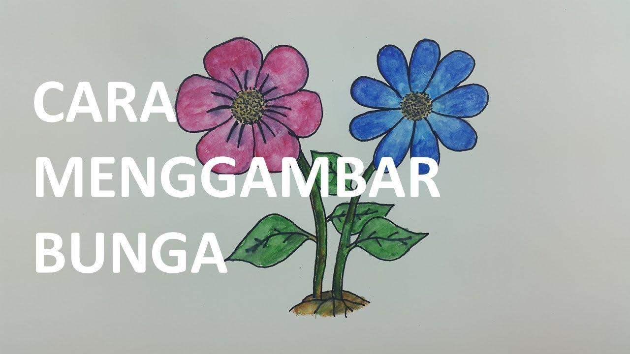 Belajar Cara Menggambar Dan Mewarnai Bunga Dengan Mudah Menggunakan