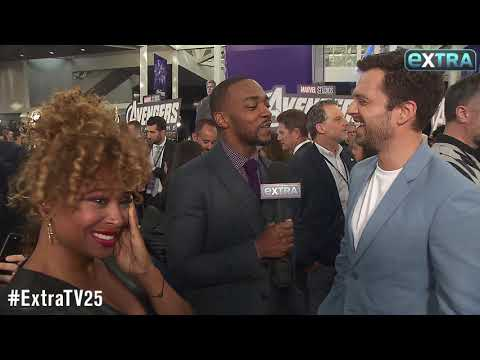Watch! Sebastian Stan & Anthony Mackie Get Their Dance on at 'Avengers: Endgame' Premiere
