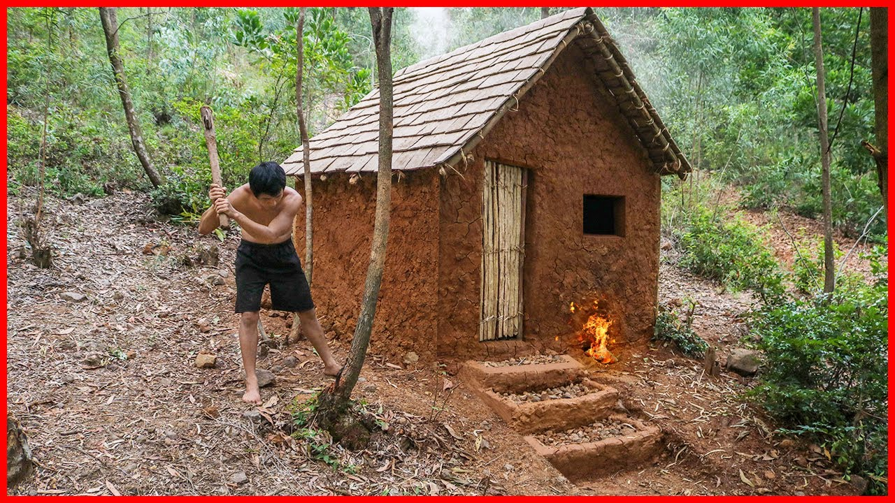 Download 365 Days How I Survival And Build In The Rain Forest - Primitive Technology Idea