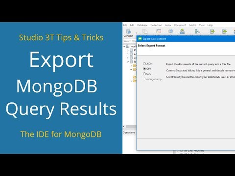 Supported MongoDB Aggregation Operators and Stages | Studio 3T