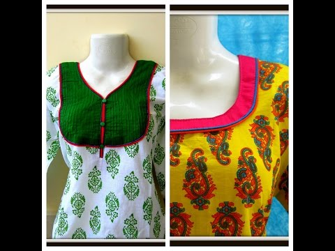 DOUBLE PIPING NECKLINE for Kurti | Kameez | Dress || EASY SEWING ||  DIY