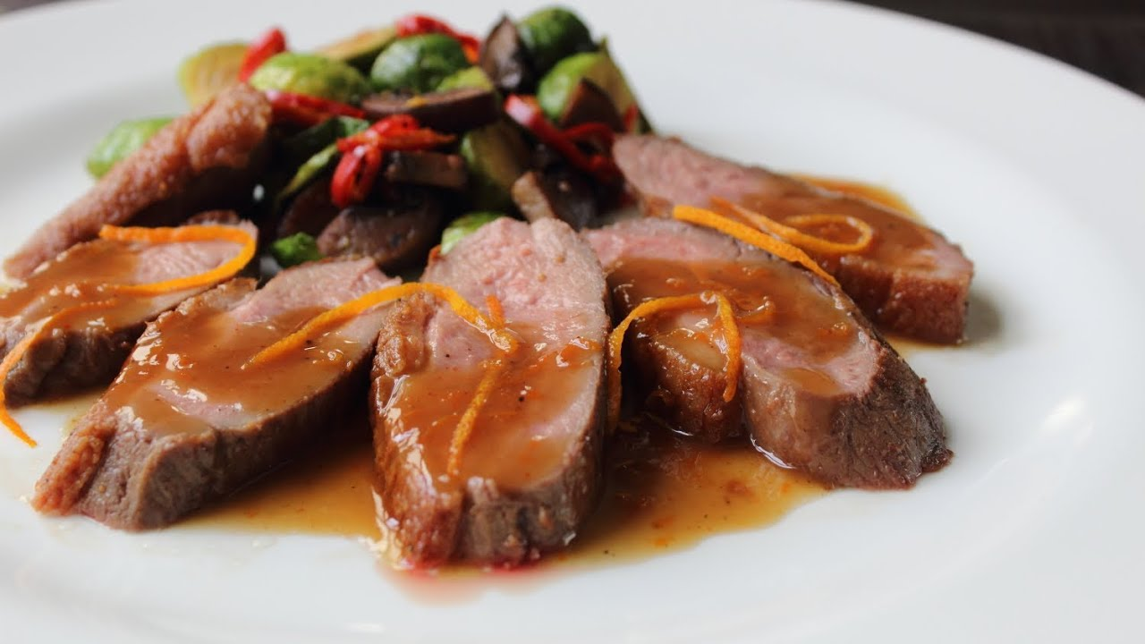 Orange Duck Recipe - Duck Breast a l'Orange - YouTube