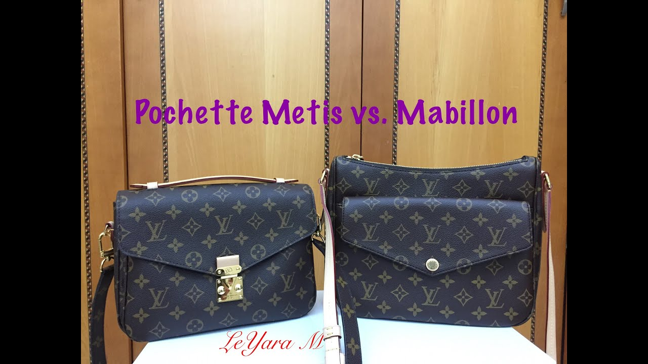 4a23542810f7 Louis Vuitton Pochette Metis vs. Mabillon - YouTube