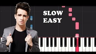 Panic At The Disco - High Hopes (SLOW EASY PIANO TUTORIAL) Video