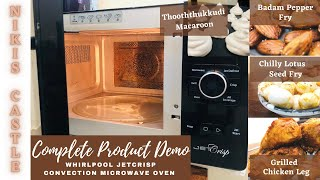 Whirlpool Jetcrisp convection Microwave Oven Complete product demo with Recipes in Tamil