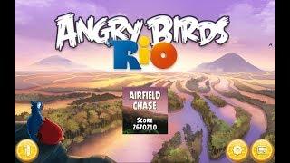 Angry Birds: Rio. Airfield Chase (level 2) 3 stars. Прохождение от SAFa