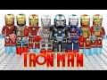 LEGO Iron Man Ziran Armor War Machine Iron Patriot Rescue Armor Pepper Potts Unofficial Minifigures