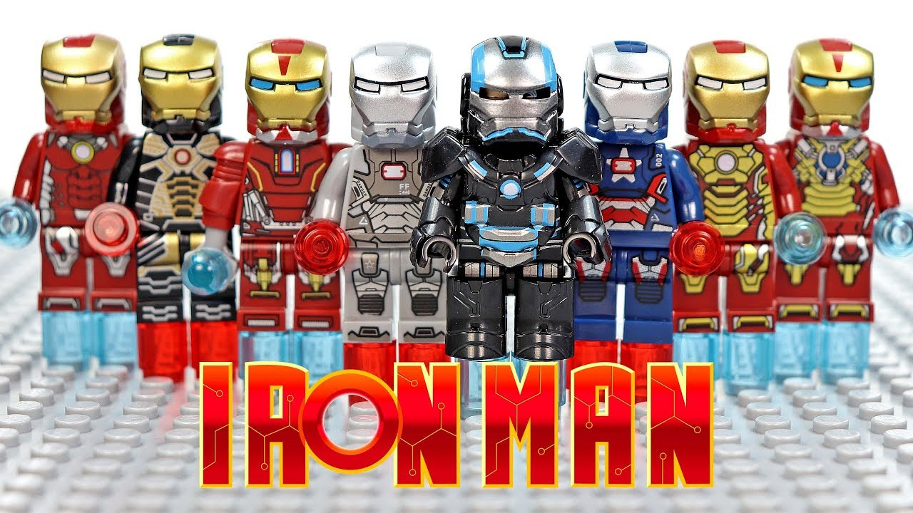 Lego Iron Man Ziran Armor War Machine Iron Patriot Rescue Armor