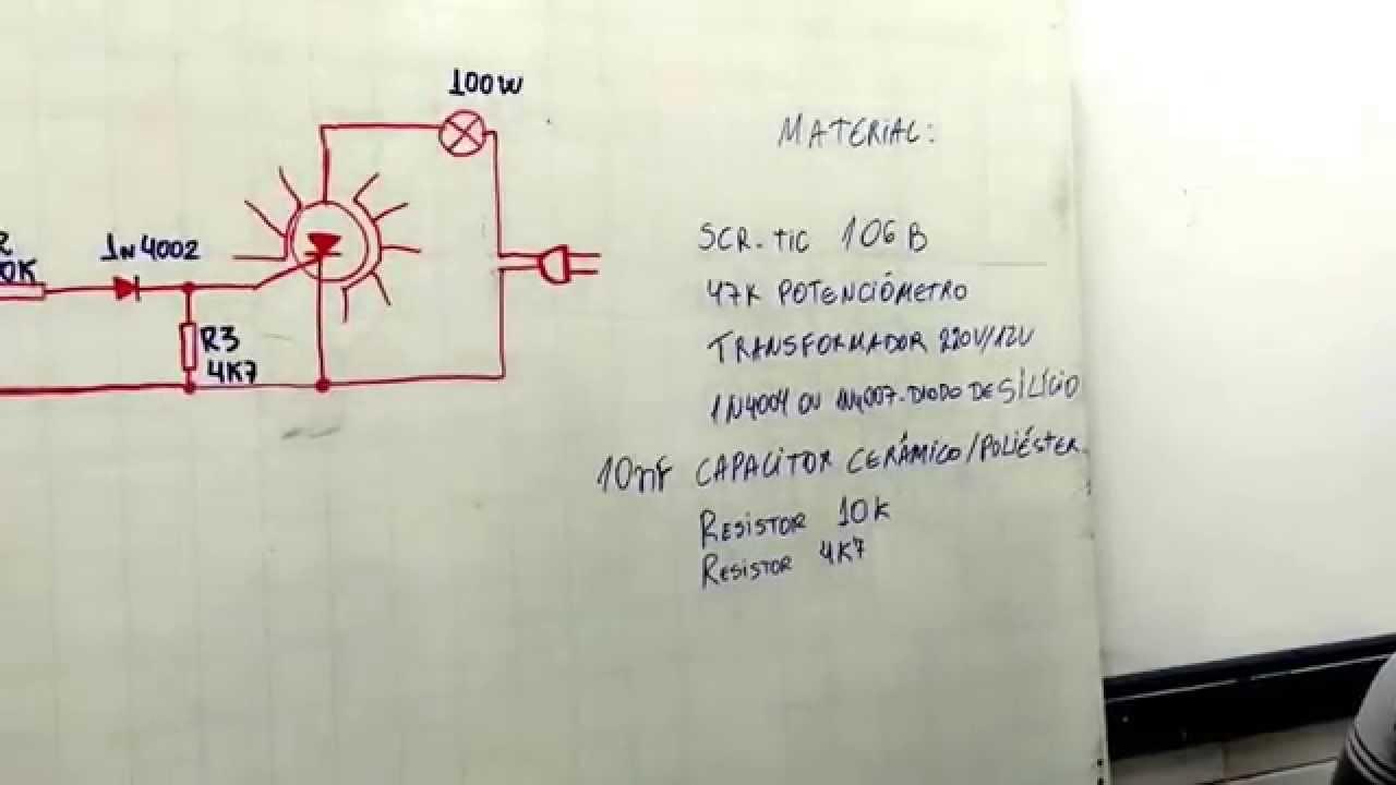 Circuito Com Scr Tic 106 : Luz rítmica utilizando scr tic youtube