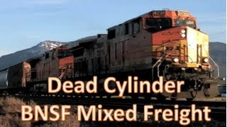 Broken Locomotive BNSF Mixed Freight