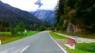 Salzburger Land Busfahrt Richtung Salzburg von Zell am See nach Weißbach bei Lofer