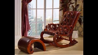 Carved Rocking Chair Pure (Teak Wood)