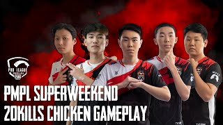 PMPL SA Season 3 Super Weekend 20 KILLS Chiken dinner 🔥