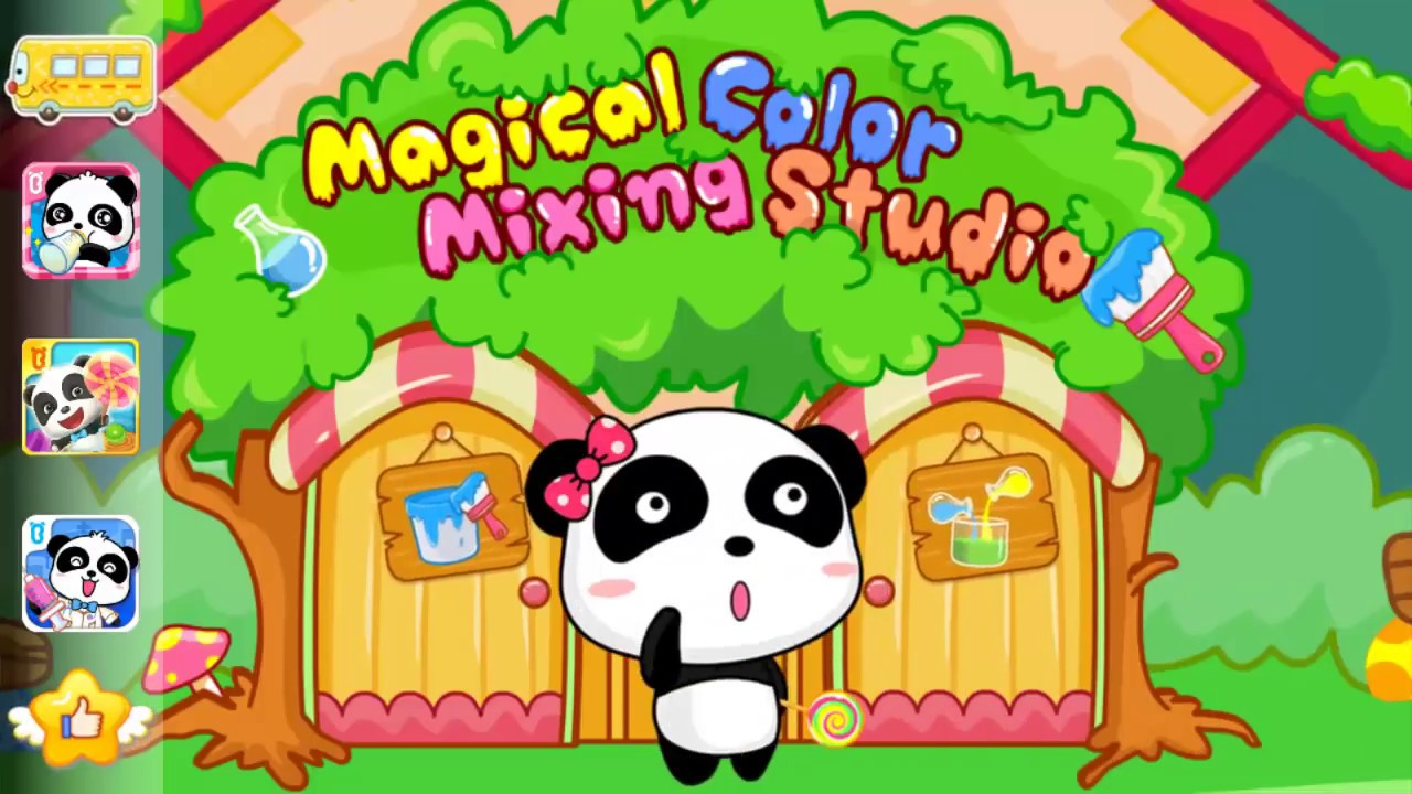 Baby Panda Color Games | Kids Learn Colors with Baby Bus Magical ...