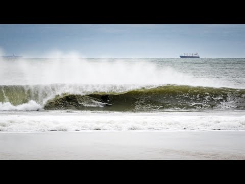 Rockaway Beach, New York Blizzard Swell - Unedited Cam Footage