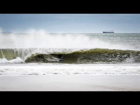 Rockaway Beach, New York Blizzard Swell - Unedited Cam Footage