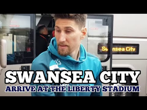 SWANSEA CITY ARRIVE AT THE LIBERTY STADIUM: Swansea City v Tottenham - 17 March 2018