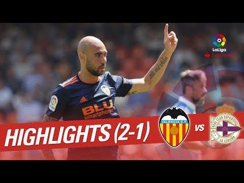 Highlights Valencia CF vs RC Deportivo (2-0)