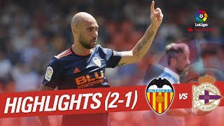 Resumen de Valencia CF vs RC Deportivo (2-1)