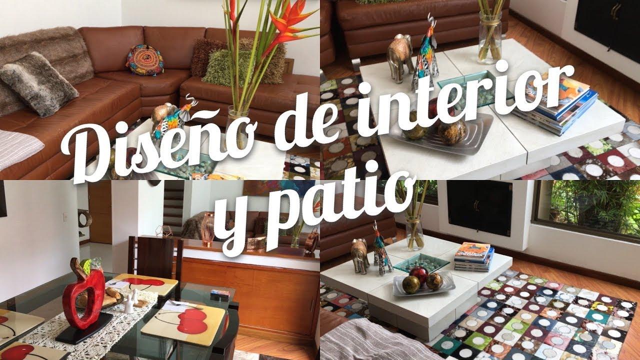 TOUR POR CASA EN COLOMBIA || TOUR SALA, COMEDOR Y PATIO