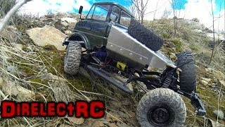 RC Axial SCX10 with a Tamiya Unimog body - DirelectRC